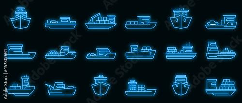 Foto Ferry icons set