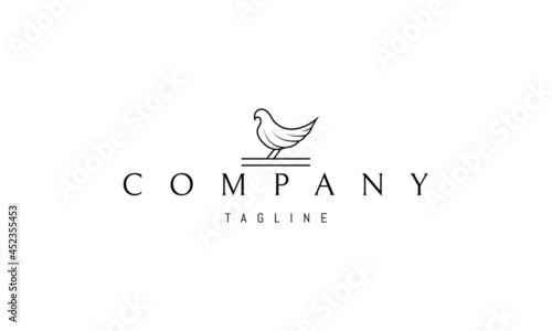 Canvas Vector logo on which an abstract image of a dove in a linear style