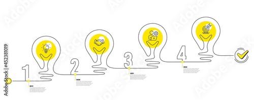 Fotografija Business Infographic timeline with 4 steps