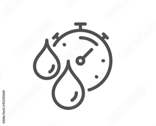Obraz na plátne Paint drying time line icon