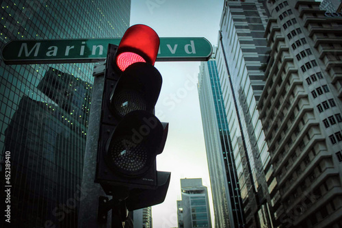 Canvas Singapore's Marina Boulevard Stoplight