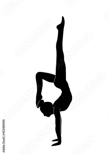 Woman doing yoga at home Fototapet