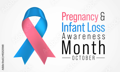 Fotografia Pregnancy and infant loss awareness month (SIDS) is observed every year in October, to honor and remember those who have lost a child during pregnancy or in infancy