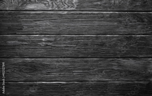 Fotografia Mur en planches de bois texture style lambris noir et blanc