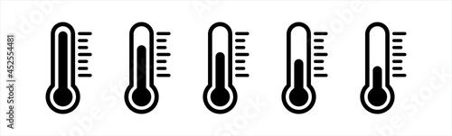 Obraz na płótnie Thermometer icons set.