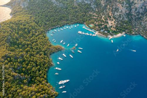 Fotografia Aerial view of Gocek bays in Fethiye, Turkey
