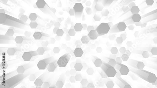 Fotografia Many brightly glowing hexagonal rod cells