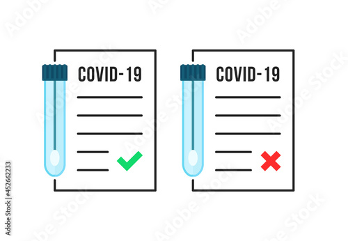 linear positive and negative covid-19 tests Poster Mural XXL