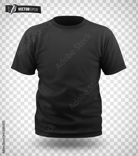 Photo T-shirt noir vectoriel sur fond transparent
