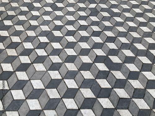 background 3d paving slabs of gray color Fototapeta
