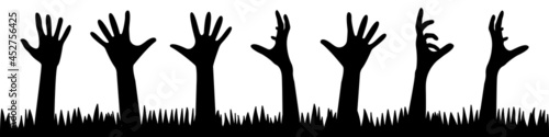 Carta da parati A set of zombie hands from the ground