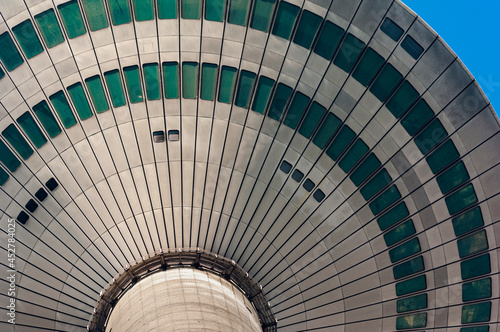 Tela Die Kanzel des Frankfurter Fernmeldeturm oder Europaturm von unten