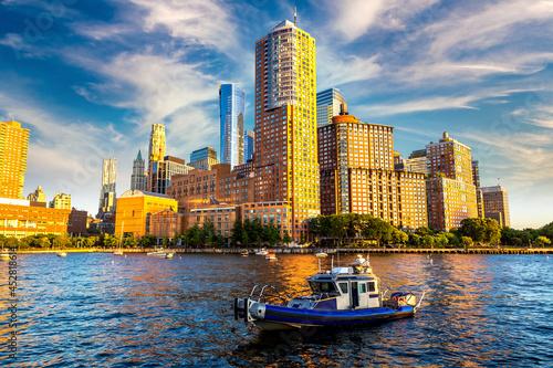 Obraz na plátně Manhattan and Hudson river in New York