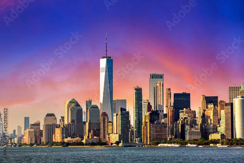 Fototapeta Manhattan cityscape in New York