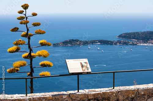 Canvas Print Eze France Panoramic view of the cote d'azur