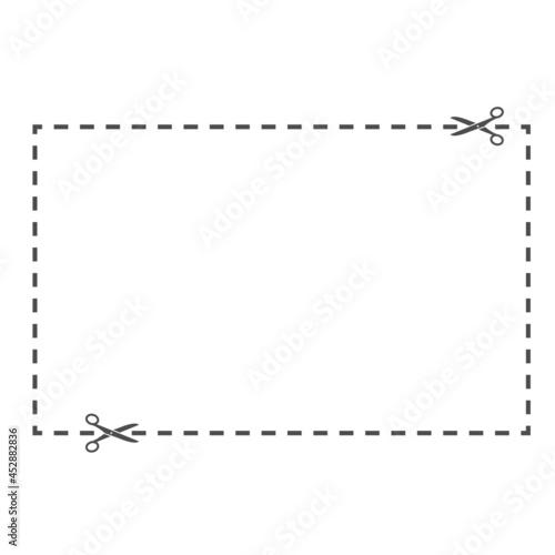 Billede på lærred Rectangular cut line