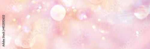 Fotografering Banner sanftes rosefarbenes Licht mit viel Freiraum für  Text und Design, illust