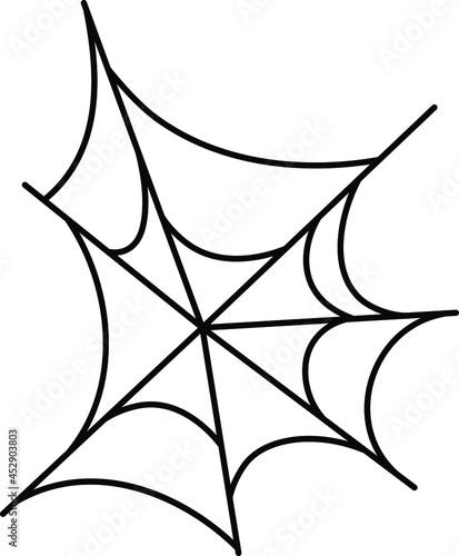 Fotografija free-form spider web, line vector icon