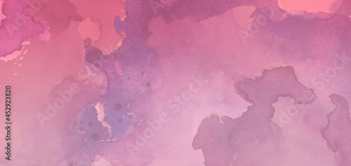Canvas Fantasy smooth watercolor paper textured illustration for grunge design, vintage card, templates