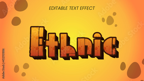 Fotografie, Obraz ethnic text style effect