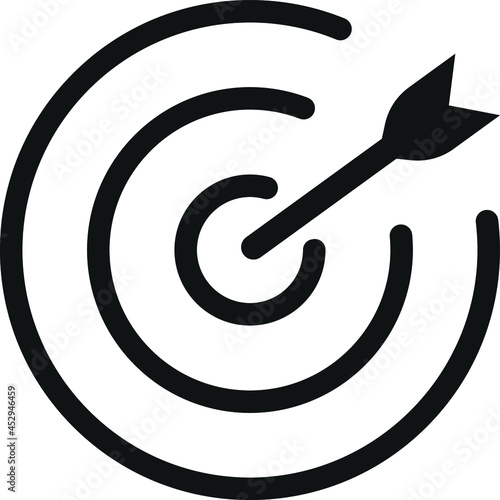 Canvas Target icon, goal icon, mission icon vector
