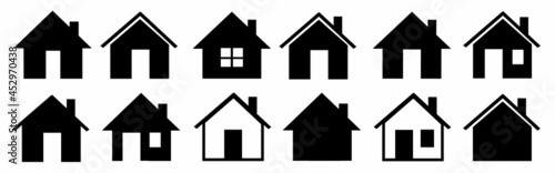 Fotografia House icons set