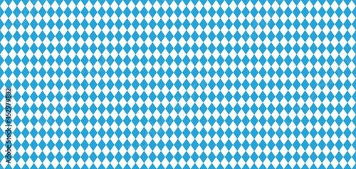 Foto Bavarian Oktoberfest seamless pattern with blue and white rhombus Flag of Bavari
