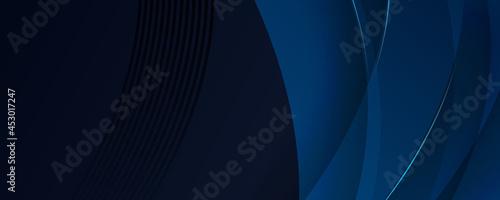 Fotografie, Obraz Dark navy and soft blue banner background