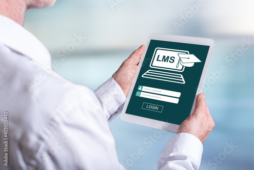 Lms concept on a tablet