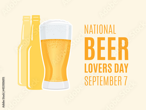 Canvas National Beer Lovers Day vector
