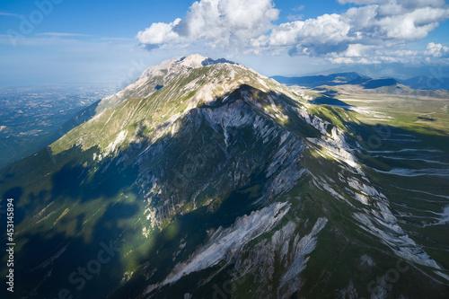 Obraz na plátne aerial view of the mountain area of the gran sasso abruzzo