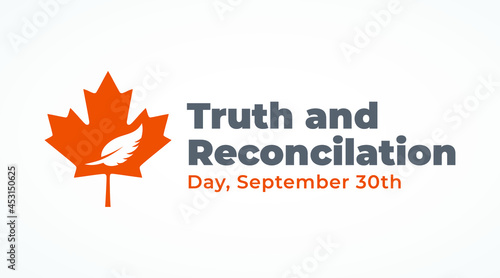 Obraz na plátně national day of truth and reconciliation modern creative banner, design concept,