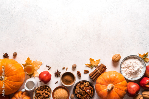 Autumn fall baking background Fotobehang