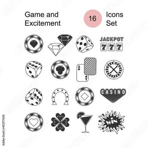 set casino icons Fototapet