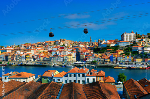 Famous view of Porto and Douro river
