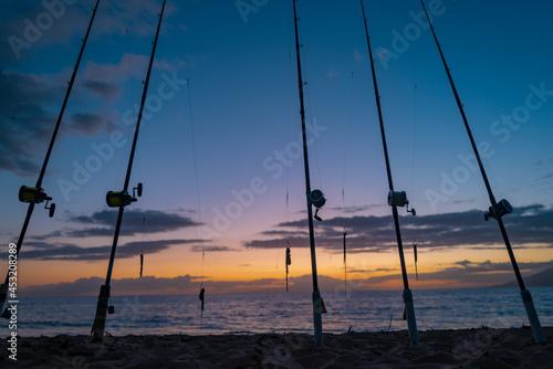 Fishing rod spinning Fototapet