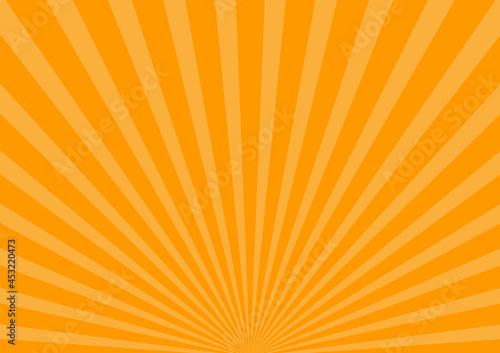 Fototapeta オレンジ ハロウィン 集中線 放射線 ビーム 背景 壁紙
