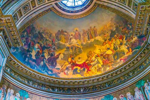 Fotografia Emperor Napoleon Pope Fresco La Madeleine Church Paris France