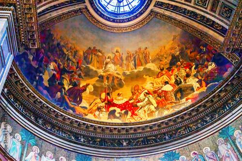 Obraz na płótnie Emperor Napoleon Pope Fresco La Madeleine Church Paris France