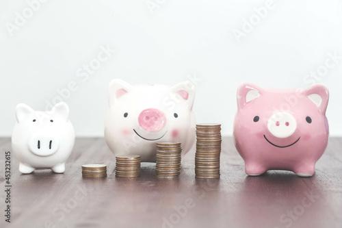 Tela Family saving money to piggy bank