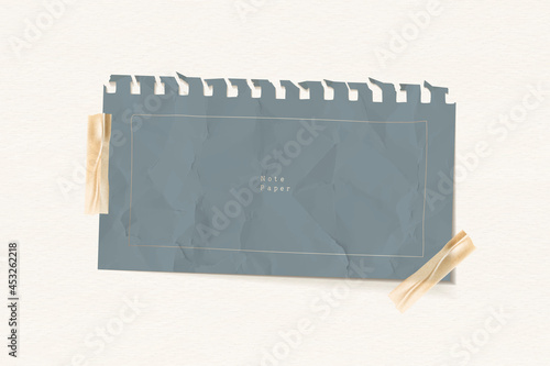 Canvastavla Crumpled gray note paper template