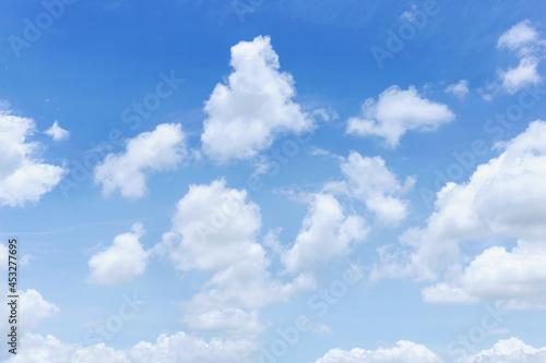Fotografie, Obraz Blue sky with clouds Many beautiful white