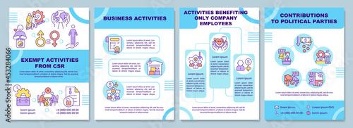 Foto Corporate social responsibility exempt activities brochure template