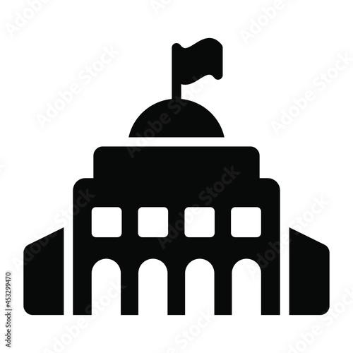 Fotografia City Hall icon, real estate web and mobile icon