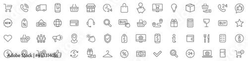 Shopping icons set Fotobehang