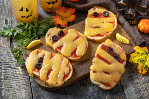 Canvas Print Halloween party food