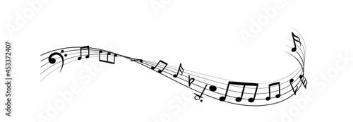 Fotografija Music notes silhouettes