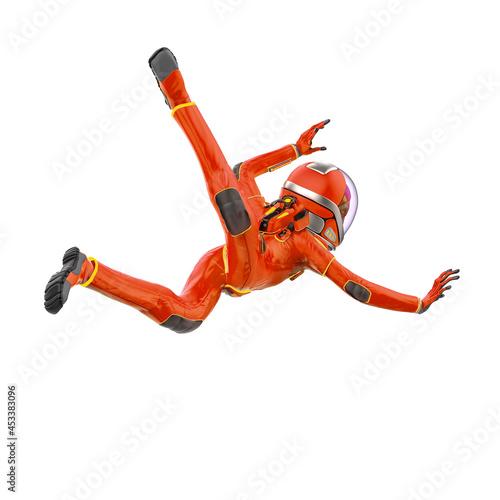 Valokuvatapetti alien astronaut is falling from the sky