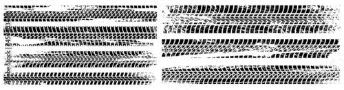 Fotografie, Obraz Grunge car tracks marks