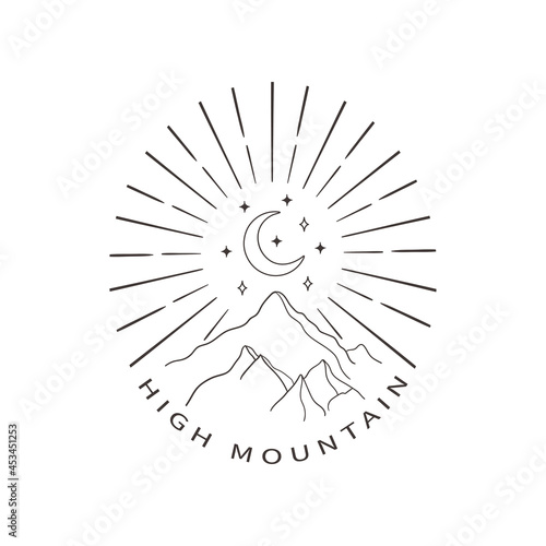 Fotografia Divine Beauty Premade Logo Design. Black Crescent